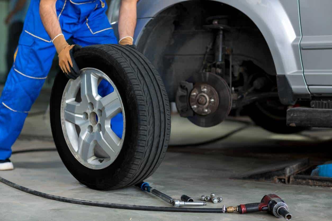 changement de pneu